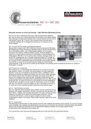 Pressemeddelelse MC 15 + MC 250