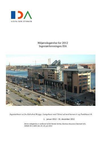 Miljøredegørelse for 2012 Ingeniørforeningen IDA