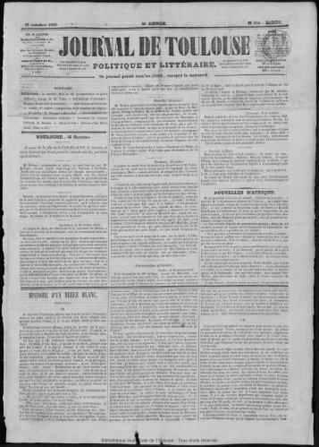 31 octobre 1842 - Bibliothèque de Toulouse