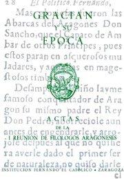 Gracián y su época. Actas de la I Reunión de Filólogos Aragoneses
