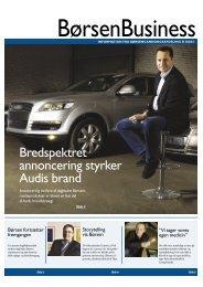 Bredspektret annoncering styrker Audis brand - Børsen