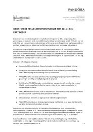 OPDATEREDE RESULTATFORVENTNINGER FOR 2011 – CEO ...