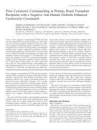 Flow Cytometric Crossmatching in Primary Renal Transplant ...