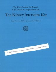 The Kinsey Interview Kit - Kinsey Institute
