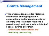 Federal Grants Management ? 90 minute (basic ... - State of Ohio