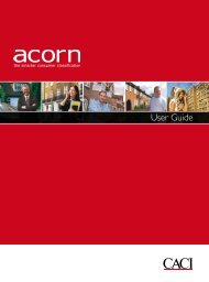 2010 Caci Acorn Uk Demographics Profile And Businessballs