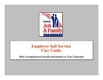 Employer Self Service User Guide - Ohio Department of Job and ...