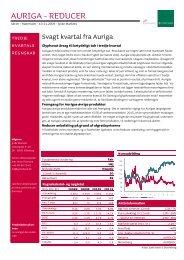 AURIGA - REDUCER - Jyske Bank