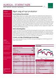 AURIGA - STÆRKT KØB - Jyske Bank