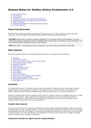 McAfee ePolicy Orchestrator 4 5 Best Practices - MEEC