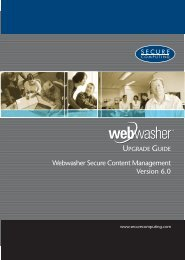 Webwasher Secure Content Management 6.0 Upgrade Guide