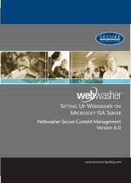 Webwasher Secure Content Management 6.0 Microsoft ... - McAfee