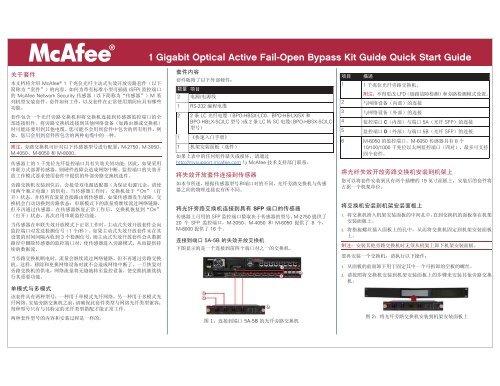 Network Security Platform 1 Gigabit Optical Fail-Open     - McAfee
