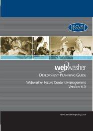 Webwasher 6.0 Deployment Planning Guide - McAfee