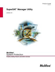 SuperDAT Manager Utility - Glossary of Technical Terms - McAfee
