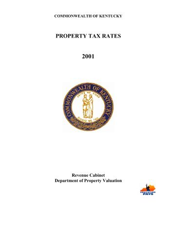 2001 local property tax rates - e-archives Home