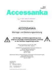 ACCESSANKA Montage- und Bedienungsanleitung - Kee Safety, DE