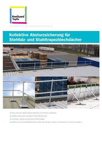 Kollektive Absturzsicherung für Stehfalz- und ... - Kee Safety, DE