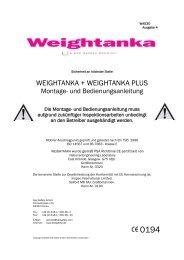WEIGHTANKA Montage- und Bedienungsanleitung ... - Kee Safety, DE