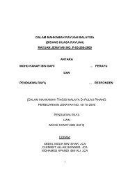 DALAM MAHKAMAH RAYUAN MALAYSIA (BIDANG KUASA ...