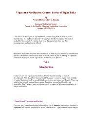 Vipassana Meditation Course - Ashin Kelatha Vihara