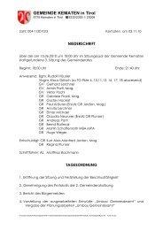 Zahl: - Gemeinde Kematen in Tirol