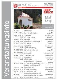 Veranstaltungsinfo Mai 2013 - Gemeinde Kematen in Tirol