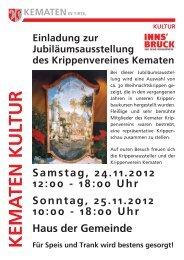 Krippenausstellung mit Adventmarkt 2012 - Gemeinde Kematen in ...