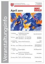 Veranstaltungsinfo April 2011 - Gemeinde Kematen in Tirol