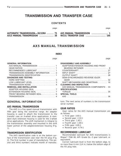 21  Transmission and Transfer case pdf - Ken Gilbert