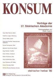 KONSUM - Vorträge der 27. Steirischen Akademie - Kennedy ...