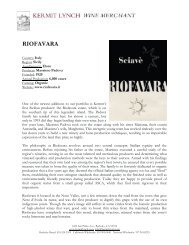 Riofavara Tech Sheet - Kermit Lynch Wine Merchant