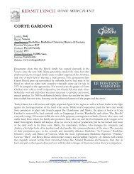 CORTE GARDONI - Kermit Lynch Wine Merchant