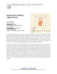 DOMAINE COMTE ABBATUCCI - Kermit Lynch Wine Merchant