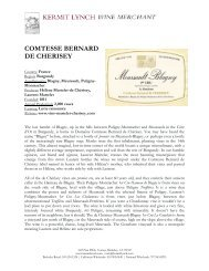 Tech Sheet: Domaine de Chérisey - Kermit Lynch Wine Merchant