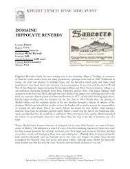 DOMAINE HIPPOLYTE REVERDY - Kermit Lynch Wine Merchant