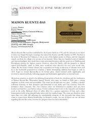 MAISON KUENTZ-BAS - Kermit Lynch Wine Merchant