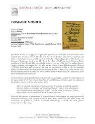 DOMAINE MONIER - Kermit Lynch Wine Merchant
