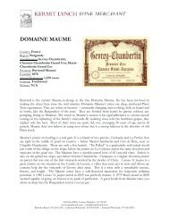 DOMAINE MAUME - Kermit Lynch Wine Merchant
