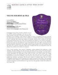 Tech Sheet: Veuve Fourny & Fils - Kermit Lynch Wine Merchant