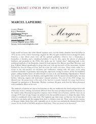 MARCEL LAPIERRE - Kermit Lynch Wine Merchant