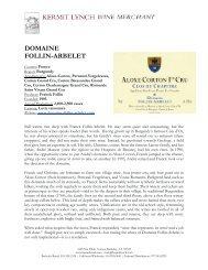DOMAINE FOLLIN-ARBELET - Kermit Lynch Wine Merchant