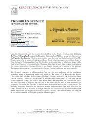 Tech Sheet: Vignobles Brunier - Kermit Lynch Wine Merchant