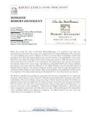 DOMAINE ROBERT-DENOGENT - Kermit Lynch Wine Merchant