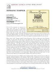 DOMAINE TEMPIER - Kermit Lynch Wine Merchant