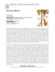 Punta Crena Tech Sheet - Kermit Lynch Wine Merchant