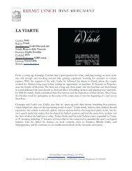 La Viarte Tech Sheet - Kermit Lynch Wine Merchant
