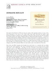 DOMAINE ROULOT - Kermit Lynch Wine Merchant