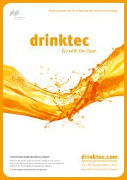 World's Leading Trade Fair for Beverage and Liquid Food ...