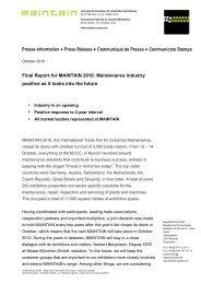 Presse-Information Press Release Communiqué de Presse ...